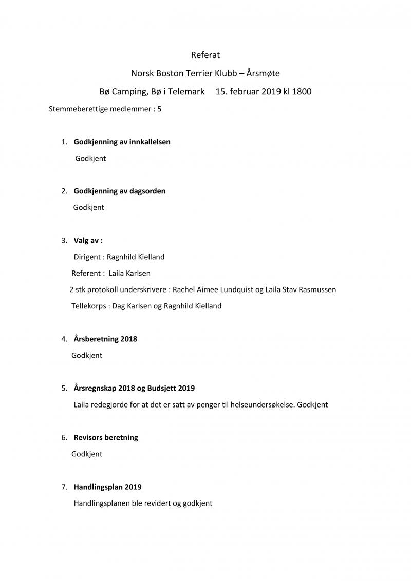 Referat Årsmøte 2019-1