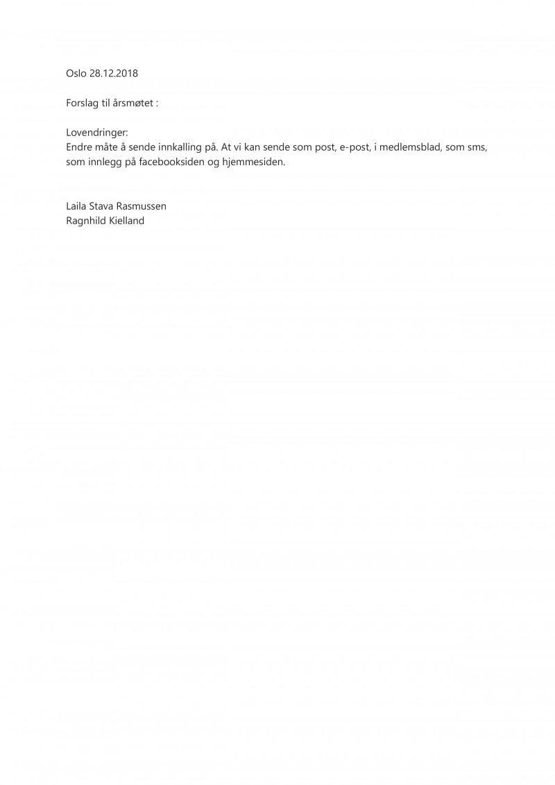 Forslag - Endre Innkallingsmåter i lovene
